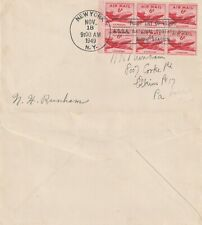 US 1949 6 CENT AIR MAIL BOOKLET PANE FIRST DAY COVER NEW YORK NY ASDA POSTAGE SH