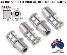 4X BA15S 1156 5050 13LEDs TURN SIGNAL BRAKE STOP TAIL BULB WHITE