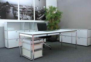 USM Haller Schreibtisch Kunstharz / Perlgrau 175 x 100 cm