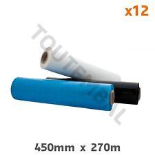 Film étirable bleu opaque 500 mm x 270 m 23 µ (par 12)