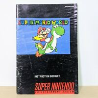 Super Mario World SNES Super Nintendo Instruction Booklet Manual