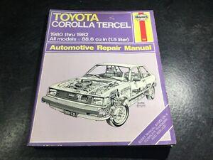 1980-1982 Corolla Toyota Tercel Haynes Repair Manual SR5 AL10 AL11 AL12 1A-C 3AC