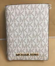 MICHAEL KORS Jet Set Travel Passport Holder Wallet Case Vanilla  W/GIFT RECEIPT