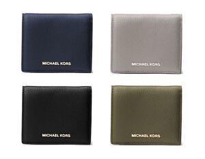 New Authentic Michael Kors Women's Mercer Leather Card Case Wallet SALE