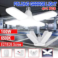 20000LM 100W E27 LED Garage Light Ceiling Adjustable Deformable Shop Work