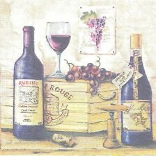 Paquet de 20 Serviettes en papier Vin Rouge Paper Napkins Red wine