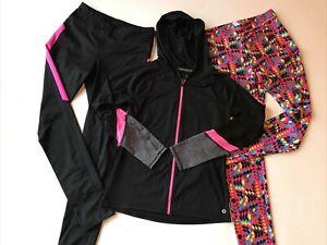 Justice Xersion Danskin Girls XL 14/16 Lot Of 3 Leggings Hooded Jacket