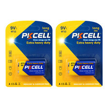 2PK Carbon-zinc 6F22 9V Super Heavy Duty Battery PKCELL