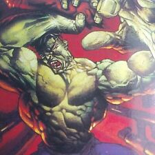 1995 MARVEL MASTERPIECES - BASE CARD - HULK # 40. Art by Devries.