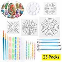 25pcs Mandala Dotting Tools for Painting Rocks Pen Tools Mandala Stencil Brush