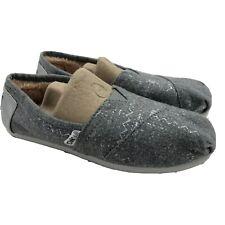 TOMS Women's Faux Fur Lined Gray Alpargata Shoes Size 5