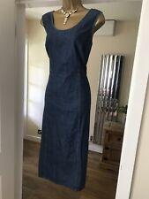 M&S Casual cotton denim summer holiday side slit dress size 16 18