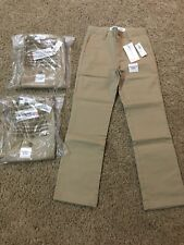 Old Navy Boys Straight Built-In Flex Uniform Pants Size 8 Slim (Khaki/Shore Enou
