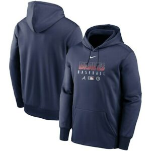 Nike Atlanta Braves Authentic Therma Performance Pullover Hoodie Mens Large $110