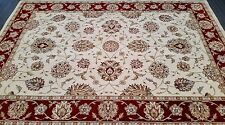 CHINESE,TRADITIONAL,FLORAL  RUG, 227 x 162CM, IVORY, BURGUNDY, GREEN, BEIGE,