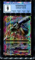 CGC 9 Full Art M Mega Blastoise Ex Evolutions 102/108 English Pokemon PSA BGS