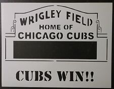 "Chicago Cubs Wrigley Field w/Words for Marquee 11"" x 8.5"" Stencil FREE SHIPPING"