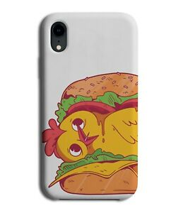 Funny Hiding Chicken Burger Phone Cover Case Chickens Burgers Nugget Food J085