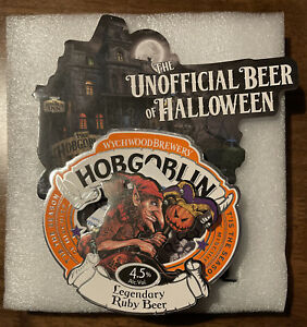 Wychwood Brewery, Hobgoblin RUBY Light Up / Flash Halloween Pump Clip Brand New