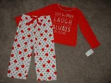 OshKosh B'Gosh Toddler Girls Heart Fleece Pajama Set Size 4T 4 NWT NEW Valentine
