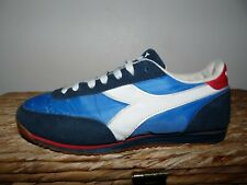 Diadora Logan Size UK 7 41 Marine White Red vintage 80's Casual Trainers SUPERB