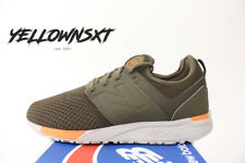NEW BALANCE 247 SZ 9.5 OLIVE GREEN ORANGE WINTER KNIT RUNNING SHOE MRL247KO