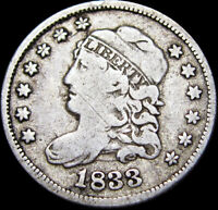 1833 Capped Bust Half Dime Silver  ----  Type Coin   ---- #K449