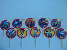 Blaze and the Monster Machines Cupcake Toppers..Cake decor SET OF 10