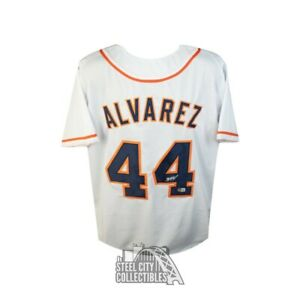Yordan Alvarez Autographed Houston Astros Custom Baseball Jersey - BAS