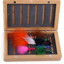 Fly Box Bamboo Natural Fly Fishing Micro Slit Foam Nymph Trout Flies 6# 2#