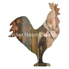 "Slat Wood ""ROOSTER"" Country Rustic Primitive Decor Distressed 19""X15"""