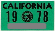 1978 California Sticker Authentic Full-size