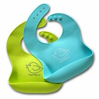 Silicone Baby Bibs Easily Wipe Clean - Comfortable Soft Waterproof Bib Keeps Sta