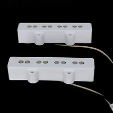 Lindy Fralin  Jazz Bass Pickup Set - WHITE Covers PLUS + 5% overwound