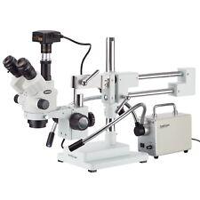 7x 45x Simul Focal Stereo Zoom Microscope 30w Led Illuminator 10mp Usb3 Came