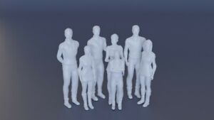 Lost In Space Robinson Family 7 Figure Model Lunar Casual Set 1:35 3D Printed