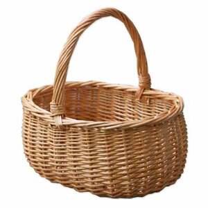 Wicker Oval Childs Small Shopping Basket Kids Flower Easter Hollander Woven