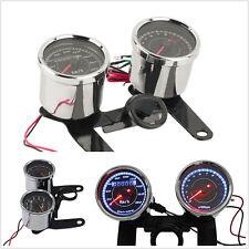 DC12V Motorbike Dual Color LED Backlight Odometer Speedometer & Tachometer Gauge