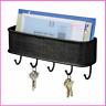 Mail and Key Holder Folk Vintage Elegant Bronze Black Storage Key Rack Organizer
