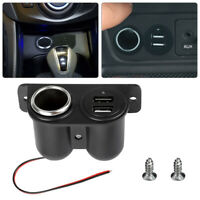 Car Lighter Auxiliary Dual USB Charger Power Outlet DC 12V Socket Plug Adapter