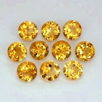 Details about  /AAA Quality Natural 3mm Golden Citrine Faceted Round Loose Gemstones Wholesale