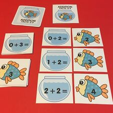 Fish Bowl - Addition Facts 0-9 Matching Game 48 Cards
