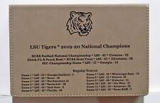LSU Tigers 2019-20 National Champions leather 6 oz flask & engraved leather box