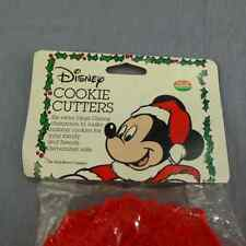 Walt Disney Cookie Cutters NEW Vintage Plastic Set 6 Chef Mickey Mouse Christmas