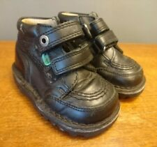 Kickers boots black Leather school shoes Ankle Boots UK infants 22 5 5.5