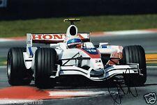 "Controlador de prueba de 1 forumla Anothony Davidson mano firmado foto anuncio de 12x8"" F1"
