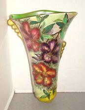 Maling Floral Lustre Luster Wall Pocket Vase