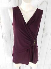 Ellen Tracy Cabernet Burgundy Sleeveless Blouse Top - Size M