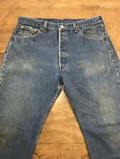 Vintage Levis 501xx 1980's Button Fly Blue Jeans C12 Size 35 x 27.5  USA