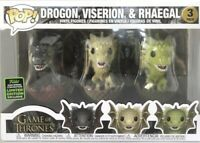 Funko POP Game Of Thrones 2020 ECCC 3 Dragons Pack Drogon Viserion & Rhaegal